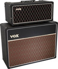 Musical Instruments:Amplifiers, PA, & Effects, Circa 1968 Vox AC50 Black Guitar Amplifier, Serial #05253....(Total: 2 )