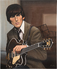 Beatles - Country Gentleman Original Oil Painting by Eric Cash