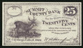 Obsoletes By State:Ohio, Cuyahoga, OH- W.A. Stanford payable at Summit County Bank 25¢ 1862. ...