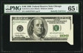 Error Notes:Attached Tabs, Butterfly Fold Error Fr. 2175-G $100 1996 Federal Reserve Note. PMGGem Uncirculated 65 EPQ.. ...
