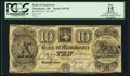 Obsoletes By State:Michigan, Manchester, MI- Bank of Manchester $10 Nov. 20, 1837 G8. ...