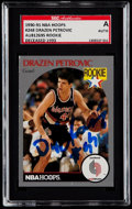 Autographs:Sports Cards, Signed 1990-91 NBA Hoops Drazen Petrovic #248 SGC Authentic. ...