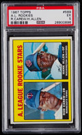 Baseball Cards:Singles (1960-1969), 1967 Topps Rod Carew - A.L. Rookies #569 PSA EX 5....