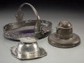 Silver Holloware, British, Three Liberty & Co. Tudric Pewter Desk Items. Early 20thcentury. Stamped ENGLISH PEWTER, MADE BY LIBERTY & CO.,...(Total: 3 Items)