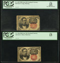 Fractional Currency:Fifth Issue, Fr. 1265 10¢ Fifth Issue PCGS Apparent Fine 15;. Fr. 1266 10¢ FifthIssue PCGS Fine 15.. ... (Total: 2 notes)