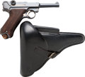 Handguns:Semiautomatic Pistol, German DWM Luger Semi-Automatic Pistol with Leather Holster....(Total: 2 Items)