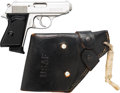 Handguns:Semiautomatic Pistol, Walther Model PPK Semi-Automatic Pistol with Leather Holster.... (Total: 2 Items)