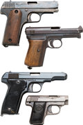 Handguns:Semiautomatic Pistol, Lot of Four Semi-Automatic Pistols.... (Total: 4 Items)