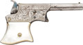 "Handguns:Derringer, Palm, Factory Engraved Remington Vest Pocket Pistol ""Saw HandleDeringer""...."