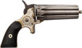 Handguns:Derringer, Palm, Jacob Rupertus Philadelphia Pepperbox Pistol....