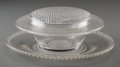 Art Glass:Lalique, R. Lalique Clear and Frosted Glass Nippon Butter Dish andUnderplate. Circa 1933. Stenciled R. LALIQUE, FRANCE. ... (Total: 2Items)