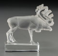 Art Glass:Lalique, R. Lalique Clear and Frosted Glass Renne Paperweight. Circa1931. Etched: R. LALIQUE, FRANCE. Ht. 3-1/2 in. ...
