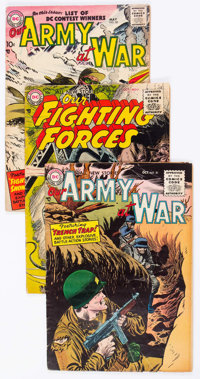 Our Army at War Group of 6 (DC, 1955-58) Condition: Average VG.... (Total: 6 Comic Books)