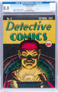 Detective Comics #8 (DC, 1937) CGC VF 8.0 Off-white pages