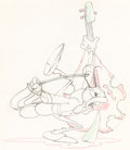 Animation Art:Production Drawing, Woodland Cafe Bass-Playing Grasshopper Animation Drawing(Walt Disney, 1937).. ...