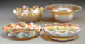 Art Glass:Tiffany , Four Tiffany Studios Gold Favrile Glass Bowls. Circa 1910. Marks:L.C.Tiffany-Favrile; L.C.T. Favrile; L.C.T..H... (Total: 4 Items)