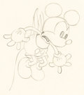 Animation Art:Production Drawing, Trader Mickey Mickey Mouse Animation Drawing (Walt Disney,1932).. ...