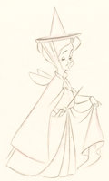 Animation Art:Production Drawing, Sleeping Beauty Fauna Animation Drawing (Walt Disney,1959).. ...