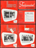 """Movie Posters:Miscellaneous, Boxoffice Magazine (The National Film Weekly, 1954). Magazines (7) (Multiple Pages, 9"""" X 12""""). Miscellaneous.. ... (Total: 7 Items)"""