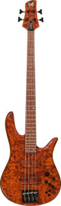 Musical Instruments:Bass Guitars, Circa 2009 Fodera Monarch Natural Electric Bass Guitar, Serial # M42547N....