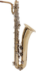Musical Instruments:Horns & Wind Instruments, 1965 Buescher 400 Model Brass Baritone Saxophone, Serial # 694302S....