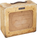 Musical Instruments:Amplifiers, PA, & Effects, 1952 Fender Deluxe Tweed Guitar Amplifier Cabinet, Serial #2243....