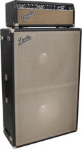 Musical Instruments:Amplifiers, PA, & Effects, Circa 1964 Fender Bassman Black Bass Guitar Amplifier, Serial # A 02074.... (Total: 2 )