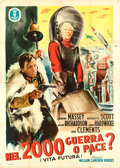 "Movie Posters:Science Fiction, Things to Come (Minerva Film, R-1953). Italian 4 - Fogli (55"" X77"").. ..."