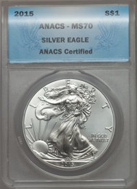 30-Piece 1986-2015 Silver Eagle Date Set, MS70 ANACS