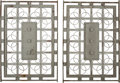 Decorative Arts, Continental, Pair of Art Deco Wrought Iron Gates. 20th century. Ht. 69-1/2 x47-1/2 x 2 in.. PROPERTY FROM THE ESTATE OF ROBERT GINGOLD...(Total: 2 Items)