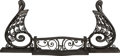 Other, Art Deco Wrought Iron Fireplace Fender with Swan Motif. Early 20th century. Ht. 26-1/8 x 60-1/4 x 9-1/2 in.. PROPERTY FROM...