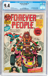 The Forever People #1 (DC, 1971) CGC NM 9.4 Off-white to white pages