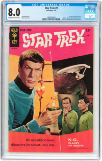 Star Trek #1 (Gold Key, 1967) CGC VF 8.0 Off-white to white pages