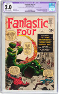 Silver Age (1956-1969):Superhero, Fantastic Four #1 (Marvel, 1961) CGC Apparent GD 2.0 Slight (C-1) Off-white to white pages....