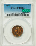 Proof Indian Cents, 1902 1C PR66 Red PCGS. CAC....