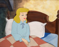 Animation Art:Production Cel, Cinderella Production Cel and Custom Painted Background(Walt Disney, 1950). ...