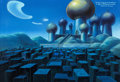 Animation Art:Painted cel background, Disney's Aladdin: The Series Painted Production Background(Walt Disney, 1994). ...