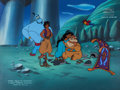 Animation Art:Production Cel, Disney's Aladdin: The Series Multi-Character Production Celand Master Painted Background (Walt Disney, 1994). ... (Total: 2Items)