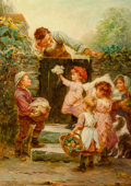Fine Art - Painting, European:Antique  (Pre 1900), Frederick Morgan (British, 1856-1927). Grandfather'sbirthday. Oil on canvas. 26-1/4 x 18-3/4 inches (66.7 x 47.6cm). S...
