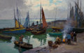 Paintings, Edouard-Léon Cortès (French, 1882-1969). Port Breton, 1966. Oil on canvas. 24 x 36 inches (61.0 x 91.4 cm). Signed lower...