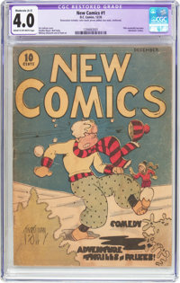 New Comics #1 (DC, 1935) CGC Apparent VG 4.0 Moderate (A-3) Cream to off-white pages