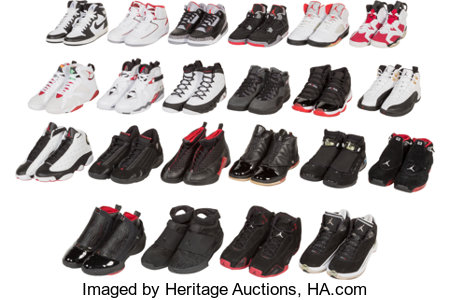 Air JordanJordan Collezione (Retro Countdown Pack Collection); 22 Pairs, Multi-Color/Screen, 2008Each pair size 9, E... (Total: 22 Items)