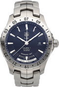 Timepieces:Wristwatch, Tag Heuer Calibre 7 Automatic Advanced GMT. ...