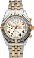 Timepieces:Wristwatch, Breitling Two Tone Chronomat Wristwatch Ref. B13050.1. ...