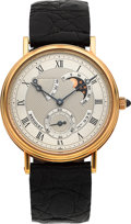 Timepieces:Wristwatch, Breguet Classique No. 935, Ref. 3580 Very Fine 18k Gold AstronomicGent's Wristwatch With Power Reserve, Date & Moon Phase. ...