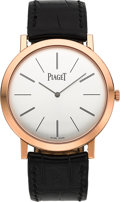 Timepieces:Wristwatch, Piaget Altiplano Mecanique 18K Rose Gold Wristwatch Ref. P10321 ....