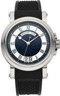 Timepieces:Wristwatch, Breguet Ref. 5817 Very Fine Steel Marine Automatic. ...
