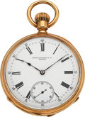 Timepieces:Pocket (pre 1900) , Patek Philippe & Co. Early 18k Gold Pocket Watch, circa 1884....