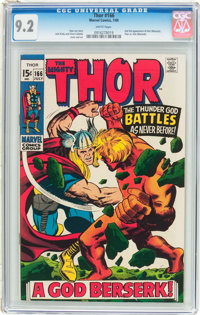 Thor #166 (Marvel, 1969) CGC NM- 9.2 White pages