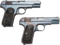 Handguns:Semiautomatic Pistol, Lot of Two Colt Model 1903 Pocket Hammerless Semi-Automatic Pistols.... (Total: 2 Items)